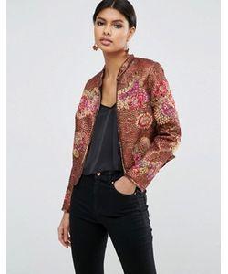 Asos | Куртка С Цветочным Принтом И Отделкой Пайетками Premium