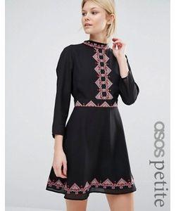 ASOS PETITE | Короткое Приталенное Платье С Вышивкой