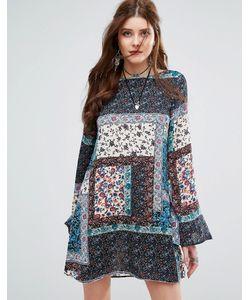MISSGUIDED | Свободное Платье С Лоскутным Принтом Пейсли