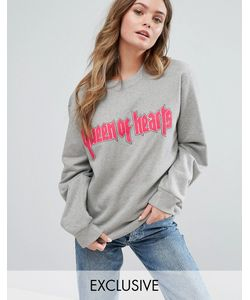 Adolescent Clothing | Свитшот-Oversize С Принтом Queen Of Hearts Valentines