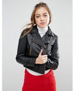 Asos | Кожаная Байкерская Куртка С Молниями