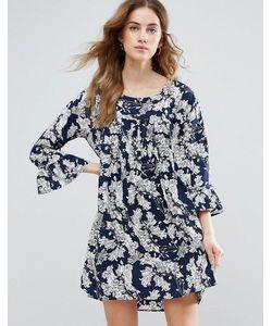 Vila | Свободное Платье С Цветочным Принтом