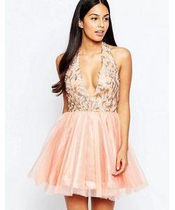 Rare Opulence   Платье Из Органзы С Глубоким Вырезом