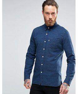 Levi's® | Меланжевая Рубашка Цвета Индиго С Одним Карманом Levis Sunset