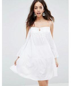 Max C London | Пляжное Платье Мини С Открытыми Плечами