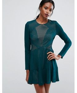 BCBGMAXAZRIA | Panelled Mini Dress