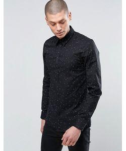 Minimum | Деловая Рубашка Узкого Кроя В Горошек