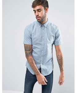 Farah | Серая Оксфордская Рубашка С 2-Цветным Плетением Steen
