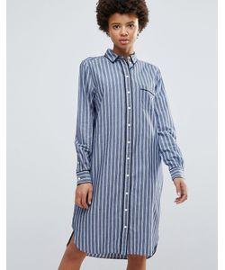 Ganni   Платье-Рубашка В Полоску Sophie