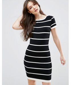Qed London | Платье В Полоску С Короткими Рукавами