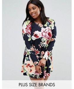 AX Paris | Свободное Платье С Цветочным Принтом Plus