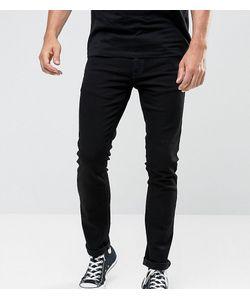 Nudie Jeans Co | Черные Выбеленные Удлиненные Джинсы Скинни Tall