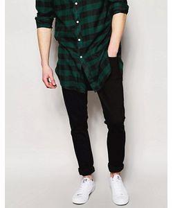 Nudie Jeans Co | Выбеленные Черные Джинсы Скинни Nudie Jeans Long John