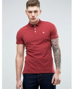 Abercrombie and Fitch | Abercrombie Fitch Slim Fit Core Polo With Moose Embroidery In