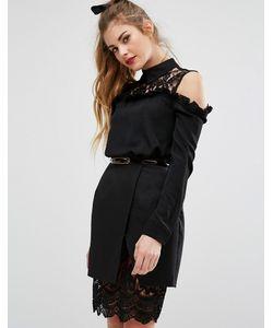 Fashion Union | Рубашка С Кружевной Вставкой И Воротником