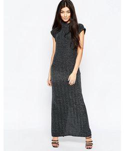 ICHI | Цельнокройное Платье Без Рукавов С Высокой Горловиной Серебряный