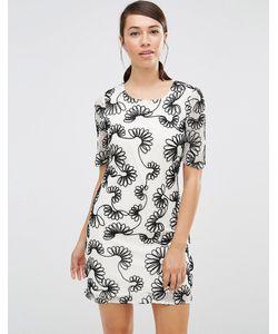 Lavand.   Цельнокройное Платье С Цветочным Узором Lavand Белый