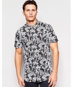 Afends | Рубашка С Короткими Рукавами И Принтом Черный