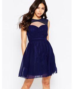 Little Mistress | Короткое Платье С Декоративными Вырезами Темно-Синий