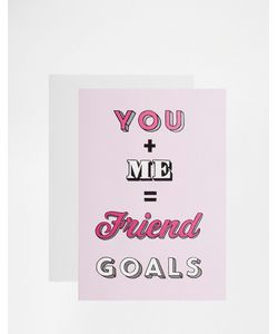 Jolly Awesome | Открытка Friend Goals Мульти