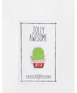 Jolly Awesome | Эмалированный Значок С Кактусом Мульти