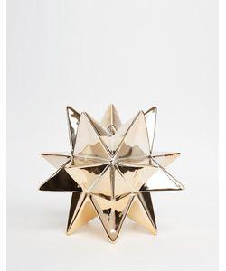 Temerity Jones | Золотистая Подставка Для Свечи В Виде Звезды Мульти
