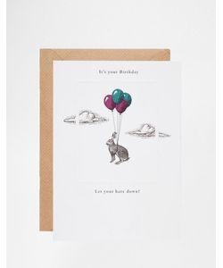 Pigment | Открытка На День Рождения Its Your Birthday Let Your Hare
