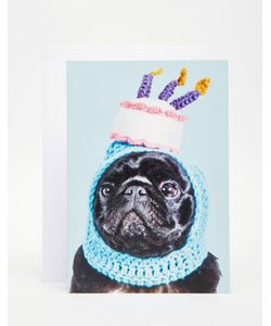 Jolly Awesome | Открытка Pug Birthday Hat