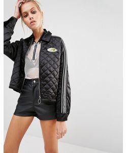 Unif | Атласная Куртка В Стиле 90-Х Черный