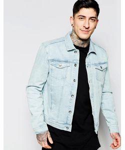 Minimum | Выбеленная Джинсовая Куртка Синий