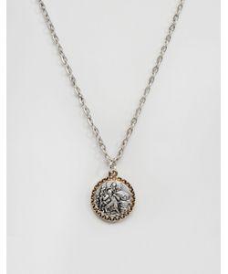 Icon Brand | Серебристое Ожерелье С Подвеской Серебряный