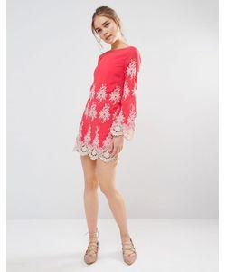 Endless Rose | Кружевное Платье Мини С Длинными Рукавами