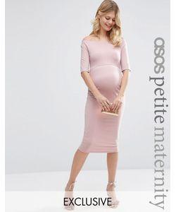 ASOS Maternity   Платье Для Беременных С Укороченными Рукавами Petite Телесный