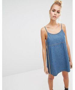 Unif   Джинсовое Платье В Стиле 90Х Синий