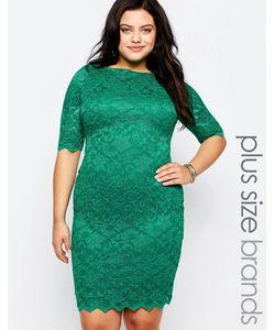Goddiva plus | Кружевное Платье Нефрит