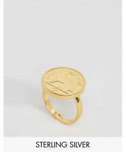 Katie Mullally | Золотистое Регулируемое Кольцо С Ирландской Монеткой