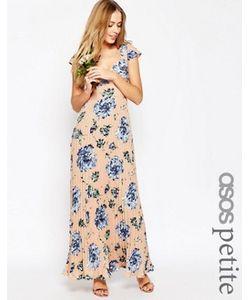 ASOS PETITE | Плиссированное Платье Макси С Принтом И Кружевной Спинкой Wedding