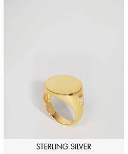 Lavish Alice   Позолоченное Серебряное Кольцо-Печатка