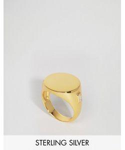 Lavish Alice | Позолоченное Серебряное Кольцо-Печатка