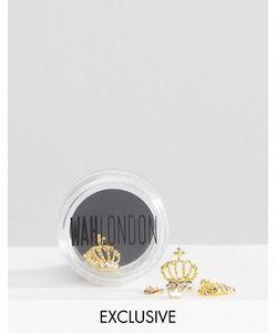 WAH | Горшочки Для Дизайна Ногтей London Золотистая Корона