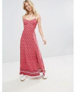 Hollister | Платье Макси С Плиточным Принтом