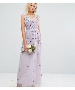 Amelia Rose | Платье Макси В Винтажном Стиле С Вышивкой И Отделкой