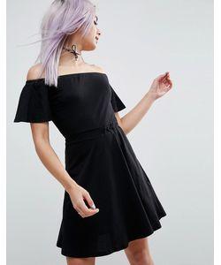 Asos | Короткое Приталенное Платье С Открытыми Плечами