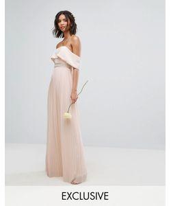 TFNC | Платье Макси С Плиссированной Юбкой Wedding