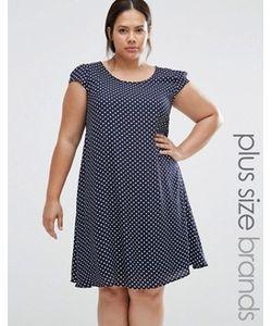 Praslin | Свободное Платье В Горошек Plus