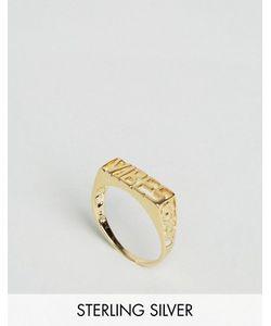 Asos | Кольцо Из Позолоченного Серебра