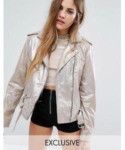 Reclaimed Vintage | Кожаная Байкерская Куртка С Блестками