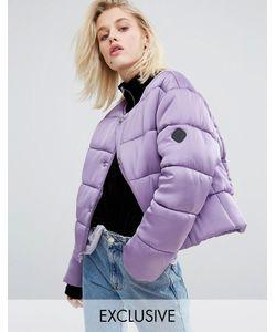 Puffa | Дутая Оversize-Куртка Из Премиум-Атласа Без Воротника