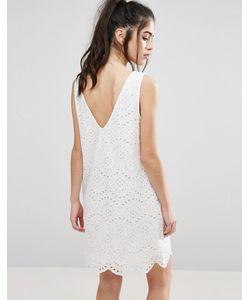 Only | Платье С Вышивкой Ришелье И V-Образным Вырезом На Спине Sisse