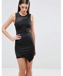 Sistaglam | Облегающее Платье С Сеточкой